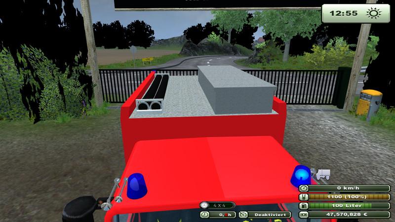 Fire Brigade Unimog 1450 V 1 0 Farming Simulator 2013 Ls Mod