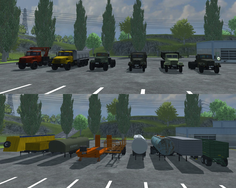 KrAZ and Trailers Pack v 2.0 2