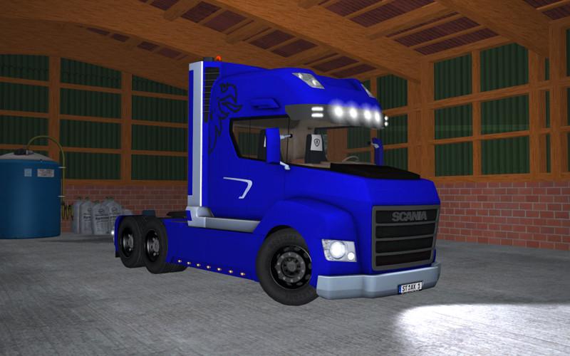 Scania Stax v 2.0 Rot und Blau 1