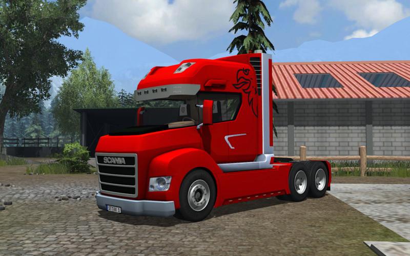 Scania Stax v 2.0 Rot und Blau 2