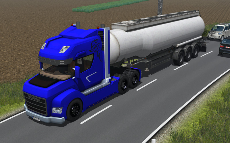 Scania Stax v 2.0 Rot und Blau