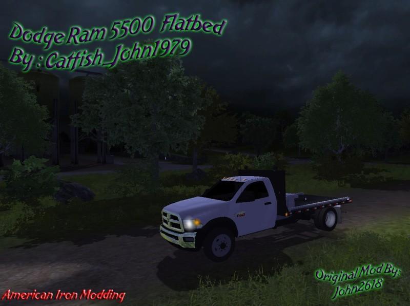 Dodge Ram 5500 Flatbead v 1 0 Farming simulator 2013 LS mod